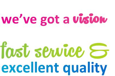 At Fahrenheit Signs & Printing we've got a vision of supplying our customers with fast service & excellent quality